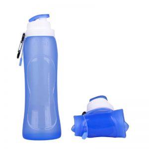 Botella plegable para llevar de silicona
