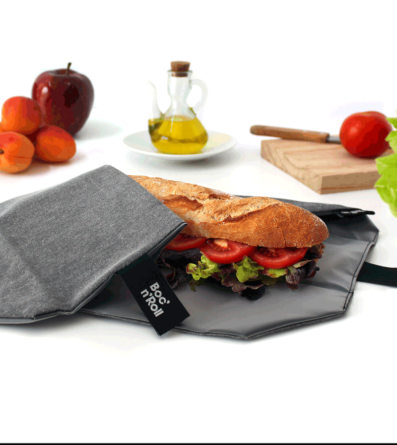 Bocnroll sandwich wrap grey
