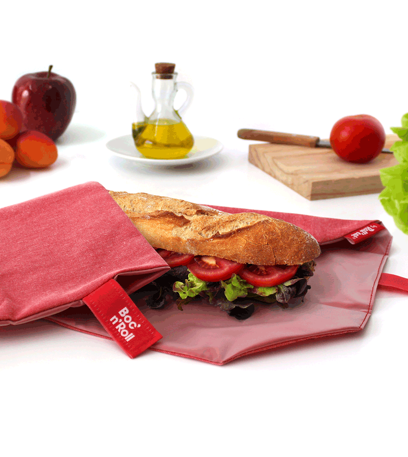Bocnroll sandwich wrap red
